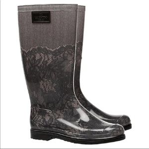 Valentino Lace Look Rain Boots size 9